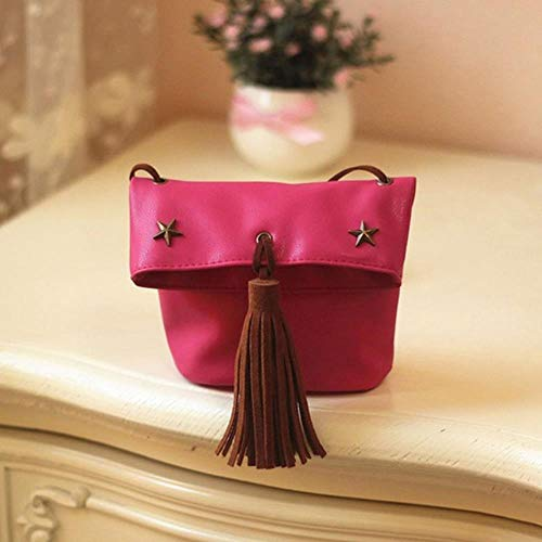 WUSYO Kids Coin Purse Mini Bag Handtasche Kinder Umhängetasche, H - Kordelzug-bestickte Umhängetasche