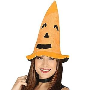 Guirca- Sombrero de calabaza para adulto, Color naranja, talla única (13877)