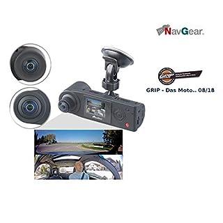 NavGear Dashcam 360 Grad: Full-HD-Dashcam mit 2 Kameras für 360°-Panorama-Sicht, G-Sensor (Autokamera mit GPS Aufzeichnung)