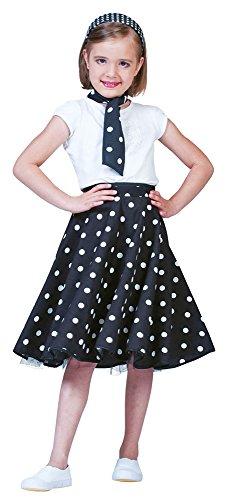 Fifties Tellerrock Mädchen (Roll Kostüm N Kinder Rock)