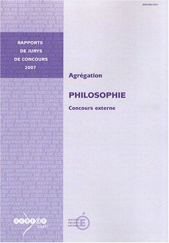 Agrégation philosophie : Concours externe