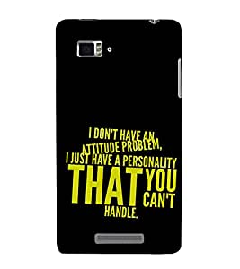 ifasho Designer Back Case Cover for Lenovo Vibe Z K910 (Cant Handle Proud Grow Love)
