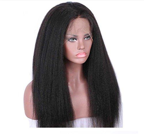 BKPH Lange Schwarz Lockig Perücke - Afro großes Haar Lockig Perücke für Frauen Weihnachten Halloween Karneval Cosplay Stilvoll Voller Kopf Bilden mit freier Kappe (Köpfe Halloween Große Für Perücken)