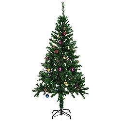 Árbol de Navidad + DECORACION INCLUIDA Pino Abeto 180x106 cm 624 Ramas PVC Verde