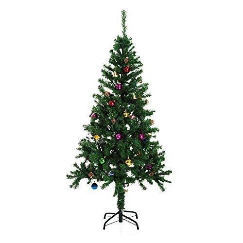 Árbol de Navidad + DECORACION INCLUIDA Pino Abeto 180x106 cm 624 Ramas...