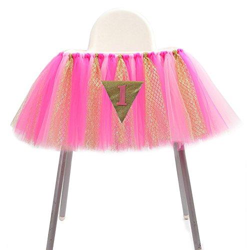 Izanoy 1. Geburtstag Originals Gruppe 1. Geburtstag Frozen Tutu, für Hochstuhl Dekoration für Party suppliestutu für Hochstuhl Dekoration für Party Supplies Design 6