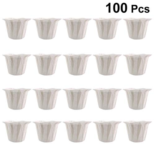 UPKOCH 50 Pcs / 2 Packs Filtres à Café Filtres en Papier Jetables Tasses pour La Cuisine à Domicile Restaurant Café Magasin Valentines Day Party Supplies