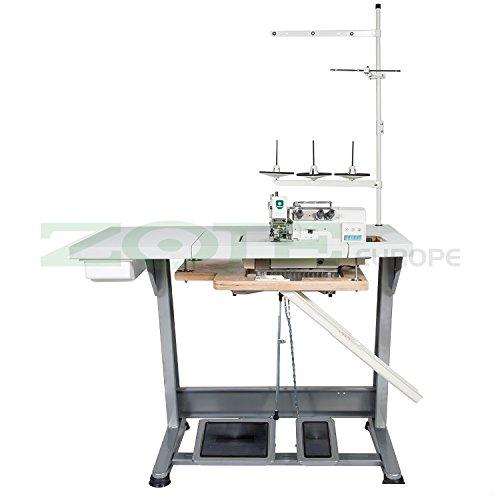ZOJE de la Industria-Máquina de Coser overlock-1Aguja/3Hilos-Completo (con Mesa y Estructura)