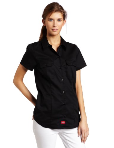Dickies - - Fs574 Kurzarm Shirt Work, Small, Black (Dickies-kurzarm-bluse)