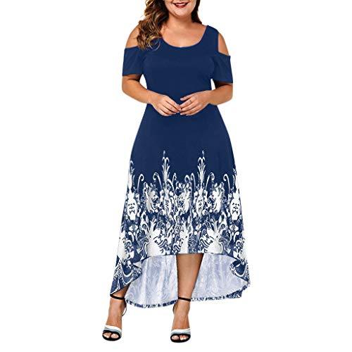 Kleid Damen Frauen Sommer V-Ausschnitt mit Blumenmuster Maxi Kleid Ärmellos Mesh Kleid Sommerkleider Knielang Cocktailkleid Schöne Kleider Elegante -