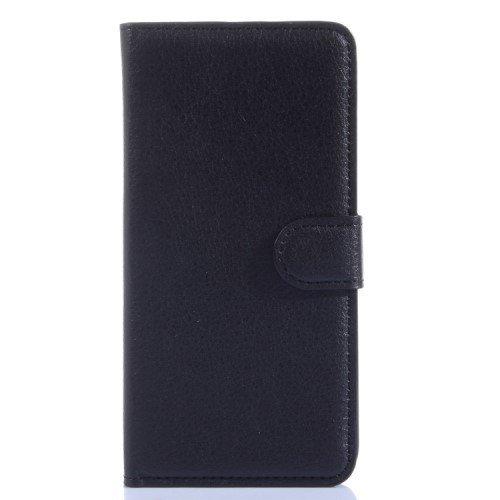 jbTec® Flip Case Handy-Hülle zu HTC Desire 620 / 620G Dual SIM - Book EINFARBIG - Handy-Tasche Schutz-Hülle Cover Handyhülle Bookstyle Booklet, Farbe:Schwarz