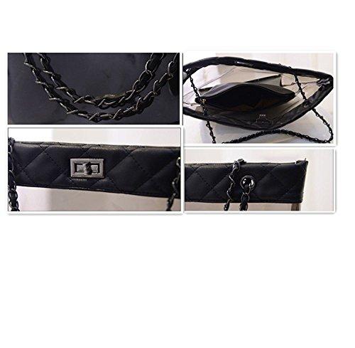 Siehin , Damen Rucksackhandtasche Color stripe schwarz