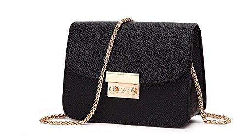 AASSDDFF Bolsas de mensajero de Las Mujeres bolso de LA PU mujeres de las mujeres bolsas de cadena de hombro bolso de las mujeres pequeñas bolso crossbody monedero 2017 nuevo LS8927mf, negro