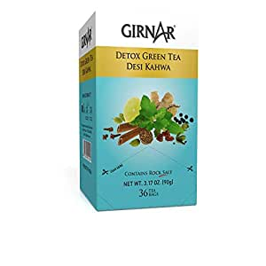 Girnar Detox Green Tea - Desi Kahwa (36 Tea Bags): Amazon.in
