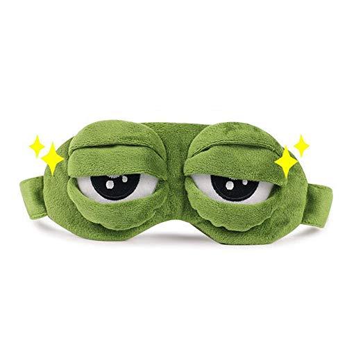 NOTE Sad Frog sleep mask cotton eye masks Blindfold For Sleep Sleeping Mask Case Eye Cover Masks