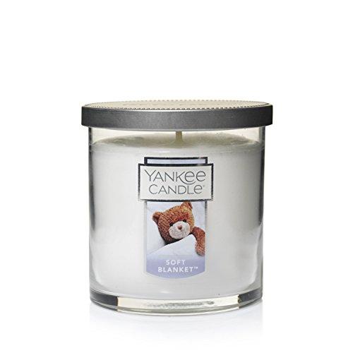 Yankee Candle Weiche Decke, Kerze, Glas, Rosa, 8,5 x 8,5 cm