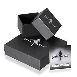 Goldmaid Damen-Schmuckset Collier + Ohrringe 925 Sterlingsilber mit weißen und schwarzen Zirkonia