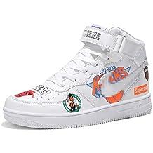 4c0f7d512ed45 SHANGWU Zapatillas Altas sin Mangas diarias para Hombres Aumentar la Altura  Zapatos Hip Hop Graffiti Air