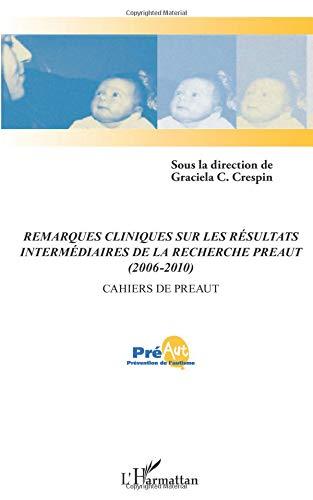 Remarques cliniques sur les résultats intermediaires de la recherche preaut 2006 2010