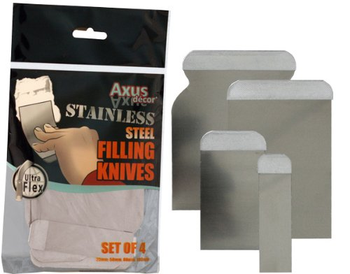 Axus Décor Jeu de spatules flexibles en acier inoxydable