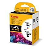 Original Kodak Cartouche d'encre Bundle 3949948 / 10B10C Noir + color pour EasyShare 5100. 5300. 5500. 6150; ESP 3. 3250. 5. 5210. 5220. 5230. 5250. 7. 7250. 9. 9250. Office 6150; Hero 7. 9. Office 6