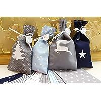 Adventskalender, Säckchen aus Baumwolle