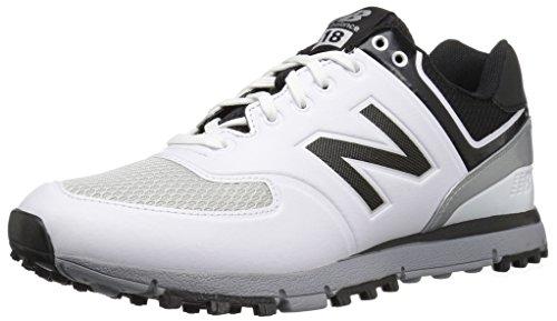 Scarpe da golf nbg518 da uomo, bianche / nere, 11,5 4E