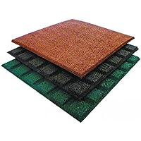 Tappeti protettivi anticaduta 50x50 cm spessore 25 mm, colore: rosso