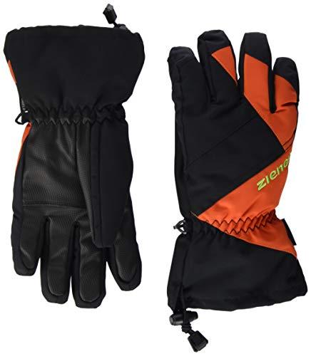 Ziener Kinder AGIL AS(R) Glove junior Ski-Handschuhe, Black.orange spiece, 3 | 04059749247241