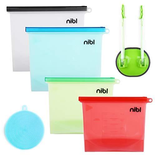 Il Nibl Company Set da tavola 4 Pack Bundle (2 Small 1qt + 2 Large 1.5qt) Red, Green, Blue, Clear