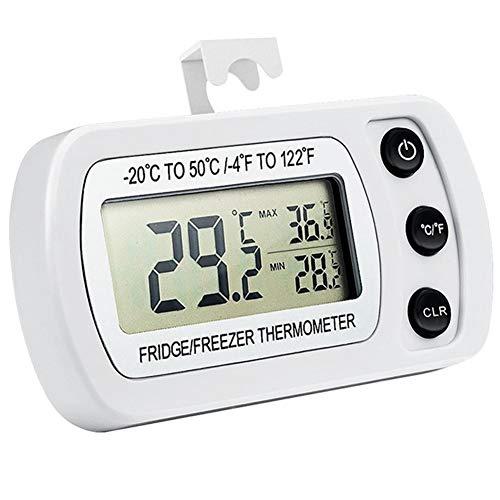 Unbekannt Hohe Qualität Wasserdicht Kühlschrank-Thermometer-Hygrometer Rekord hängend Kühlschrank elektronischer Digital-Temperatur- und Feuchtigkeitsmessgerät Breites Einsatzspektrum