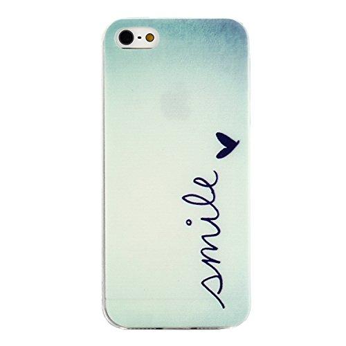 MOONCASE pour iPhone 5G / 5S Case Housse Silicone Gel TPU Case Coque Étui Cover X02 X08 #1207