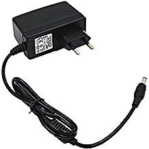 niceEshop(TM) Universal Europa Stecker Wand Adapter 12V 2A Power Charger für CCTV Überwachungskamera und LED Licht Strip AC100-240V (Schwarz)
