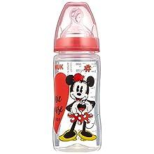 NUK Disney Mickey First Choice+ Gourde en polypropylène anti-colique en silicone de 6 à 18 mois 300 ml