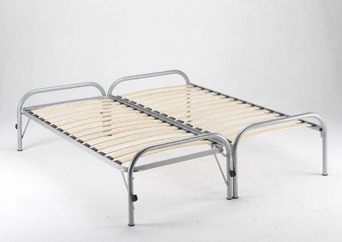 Double Guest Bed - Trundle Bed- (Silver) Capricorn