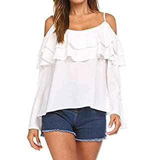 Fashion Women Autumn Off Shoulder Long Sleeve Top Casual Tops T-Shirt Clearance for Women