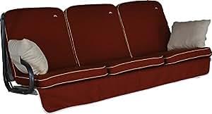 Angerer 4785/182 Primero Style Schaukelauflage Style, Terracotta, 3-Sitzer