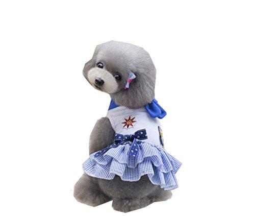 Sailor-stil Kleid (pineocus Klassisches Sailor Stil Pet Hunde Sommer Kleid)