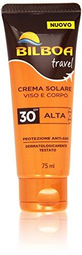 Bilboa travel crema solare viso e corpo spf 30-75 ml