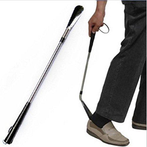 MEYLEE Edelstahl-Feder kann gebogene lange Zug-Schuh Vorrichtung tragen Schuh-Vorrichtung 23.2inch/Erreichungshilfe