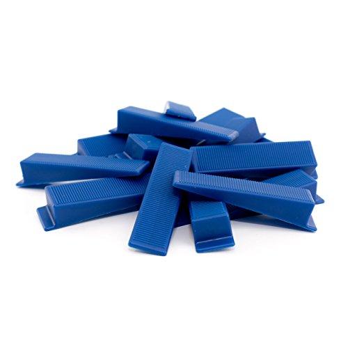 Lantelme 5679 Montagekeile 50 Stück Kunststoff für Bau, Fenster Montage Farbe blau