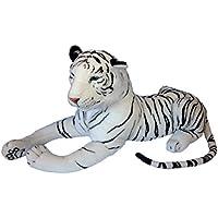 Gran Tigre blanco relleno de felpa suave 160cm GRATIS Tiger bebé