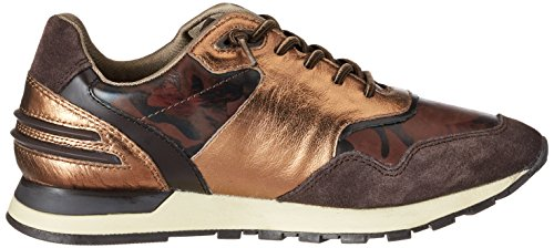 Bugatti Damen 422285011419 Sneaker Braun (dark brown / metallic)