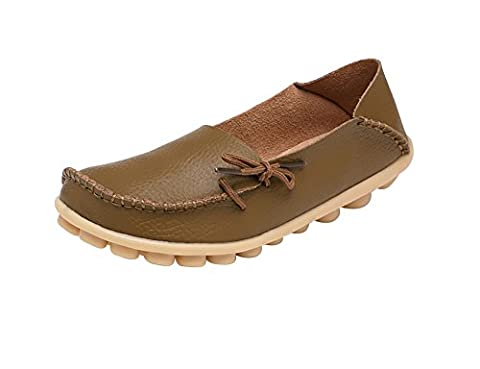 Verocara Women's Tanner Pebbled Leather Lace Up Casual Flat Shoes