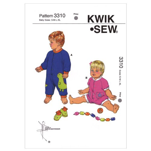 Kwik Sew K3310 Jumpsuits and Booties Sewing Pattern
