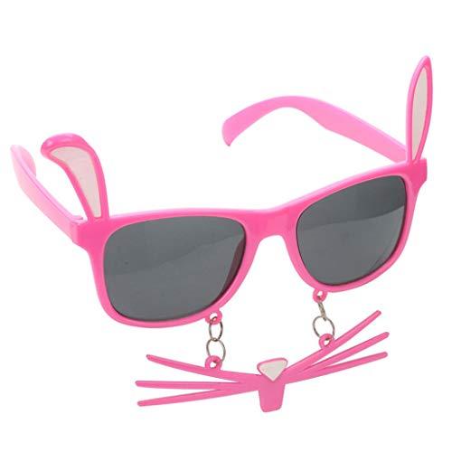 Skryo 1 stück ungiftig dekorative Brille Ostern Party Decor für liefert Ostern Frauen (Rosa)