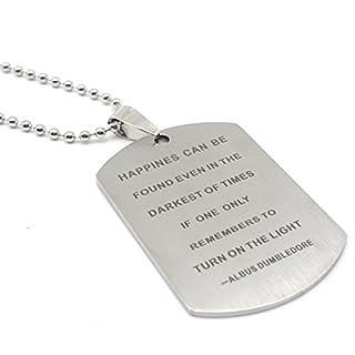 Blerameng Albus Dumbledore Zitat Inspirierende Anhänger Halskette Schmuck Weihnachten Geschenk für Freunde