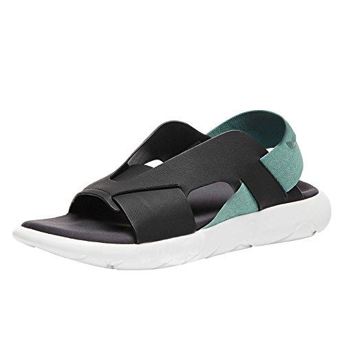 Sandales pour hommes semelles en cuir épais sandales à talons sandales décontractées de Rome US10/EU43/UK9/CN44