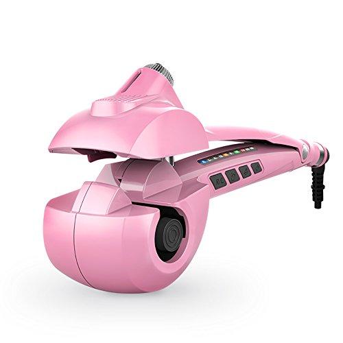 Hair curler Pulvérisateur en céramique automatique de cheveux de jet, contrôle de la température 3 ne blesse pas les cheveux, affichage à LED, couleur blanche, rouge, rose. (Couleur : Rose)