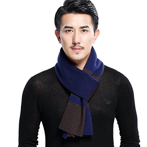 mélangé les couleurs d'automne et d'hivernales écharpes/Foulard chaud longues et épaisse pour hommes/ étudiant tricoté laine Joker foulard B